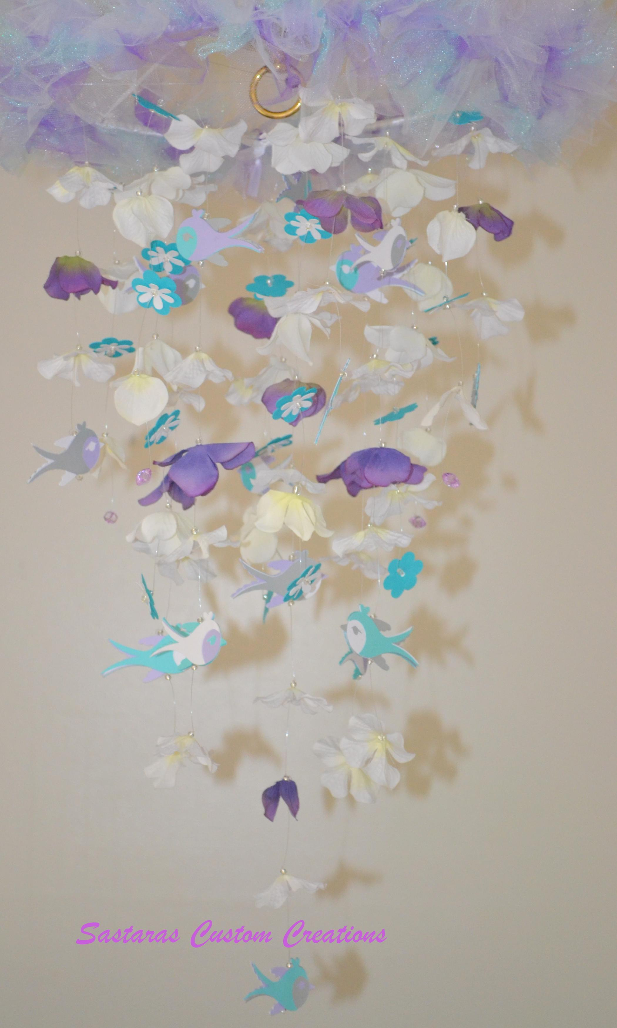 teal white gray purple nursery decor baby shower gift chandelier